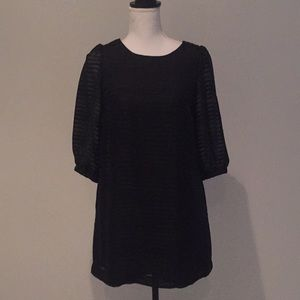 H&M elbow sleeve shift dress sz 6